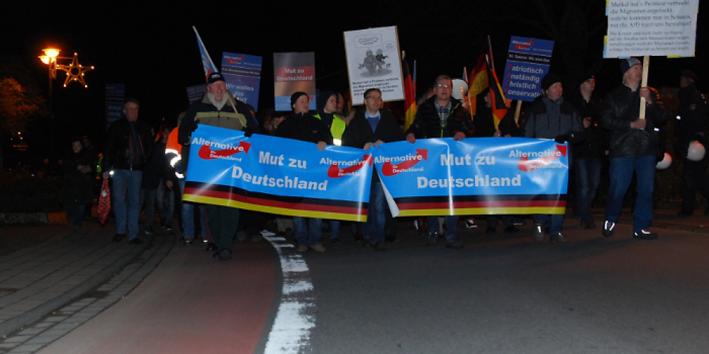 AfD-Demonstration am 4. Dezember 2015 in Salzkotten